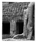 Ta Prohm Roots And Stone 02 Fleece Blanket