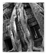 Ta Prohm Roots And Stone 03 Fleece Blanket