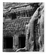 Ta Prohm Roots And Stone 05 Fleece Blanket