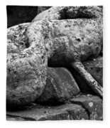 Ta Prohm Roots And Stone 06 Fleece Blanket