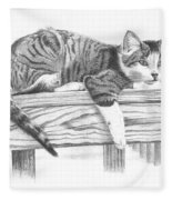 Tabby Cat Fleece Blanket