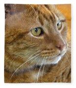 Tabby Cat Portrait Fleece Blanket