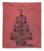 Table Christmas Tree Patent Red Fleece Blanket