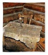 Table For Three Fleece Blanket