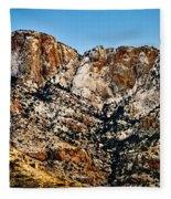 Table Mountain In Winter 42 Fleece Blanket