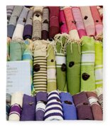 Tablecloths For Sale At A Market Stall Fleece Blanket