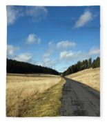 Tableland With Road Fleece Blanket
