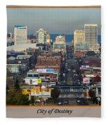 Tacoma City Of Destiny Fleece Blanket