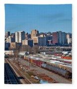 Tacoma City Wide View Fleece Blanket
