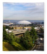 Tacoma Dome And Auto Museum Fleece Blanket