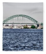 Tacony Bridge Fleece Blanket