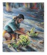 Tahitian Banana Carryer Fleece Blanket