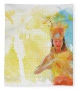 Tahitian Dancer Fleece Blanket