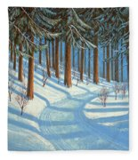 Tahoe Forest In Winter Fleece Blanket