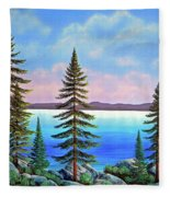 Tahoe Pines Fleece Blanket