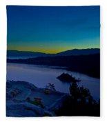 Tahoe Sunrise Fleece Blanket