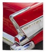 Tail Fins Are In 1957 Chevy Fleece Blanket