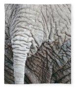 Tail Of African Elephant Fleece Blanket