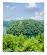 Tail Of The Dragon Scenic Road In Great Smoky Mountains Fleece Blanket