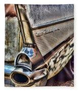 Taillight 1957 Chevy Bel Air Fleece Blanket