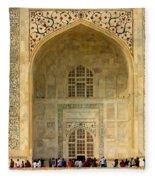 Taj Mahal Close Up Fleece Blanket