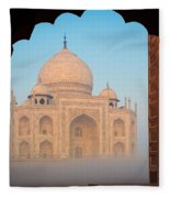 Taj Mahal Dawn Fleece Blanket