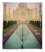 Taj Mahal Predawn Fleece Blanket