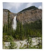 Takakkaw Falls Fleece Blanket
