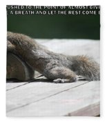 Take A Breather With Caption Fleece Blanket
