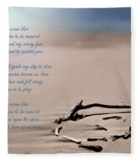 Take Me To The Ocean Blue Fleece Blanket
