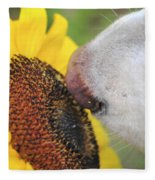 Take Time To Smell The Sunflowers Fleece Blanket