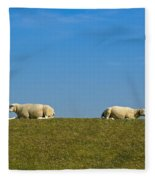 Taking A Break Fleece Blanket