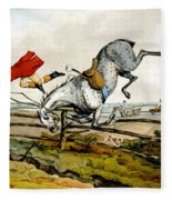 Taking A Tumble From Qualified Horses And Unqualified Riders Fleece Blanket