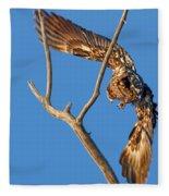 Taking Flight - Immature Bald Eagle Fleece Blanket