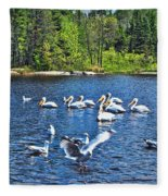 Taking Flight In Ontario Fleece Blanket
