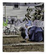 Taking Out The Garbage - Sarasota - Florida Fleece Blanket