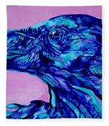 Talking Raven Fleece Blanket