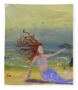 Talking To The Fishes Fleece Blanket