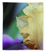 Tall Bearded Iris Named Final Episode Fleece Blanket