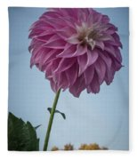 Tall Dahlia Fleece Blanket