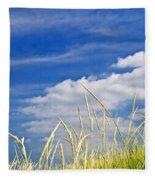 Tall Grass On Sand Dunes Fleece Blanket