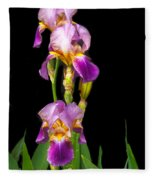 Tall Iris Fleece Blanket