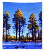Tall Ponderosa Pine Fleece Blanket