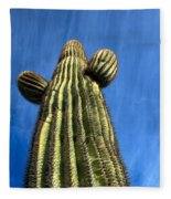 Tall Saguaro Cactus Fleece Blanket