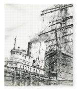 Tall Ship Assist Fleece Blanket