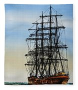 Tall Ship Beauty Fleece Blanket