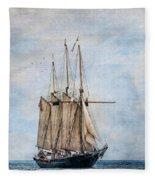 Tall Ship Denis Sullivan Fleece Blanket