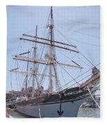 Tall Ship Elissa - Galveston Texas Fleece Blanket
