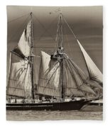 Tall Ship II Fleece Blanket