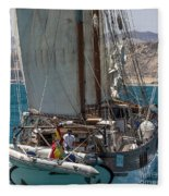 Tall Ship Isla Ebusitania  Fleece Blanket